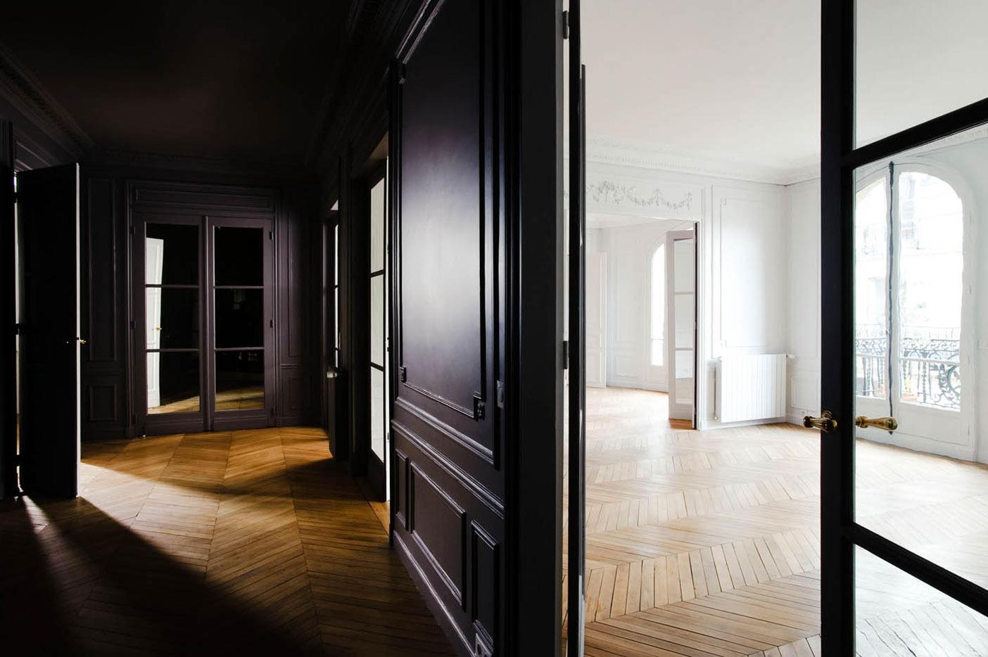 appartement haussmannien paris 16. Black Bedroom Furniture Sets. Home Design Ideas